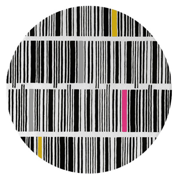 Bar Code - Black, White & Mixed 1 Rug