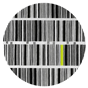 Bar Code - Black, White & Neon Lime Rug