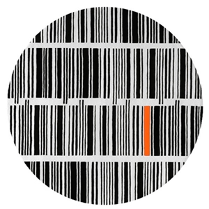 Bar Code - Black, White & Orange Rug