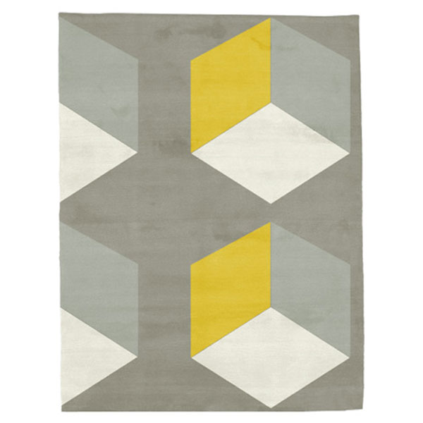 Cubizzmo No.2 - Beige & Yellow Rug