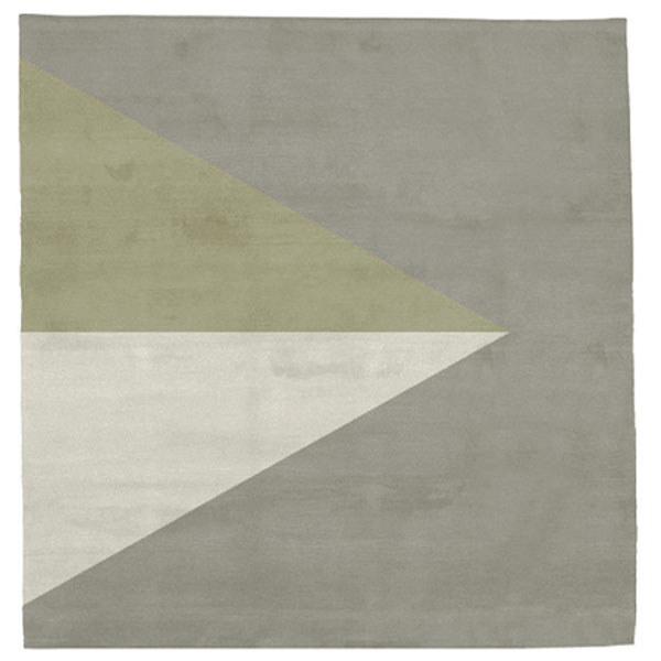 Korsor No.2 - Beige & Dried Moss Rug