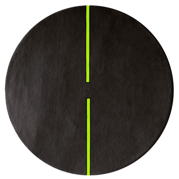Lightsonic - Charcoal & Green Glow Rug