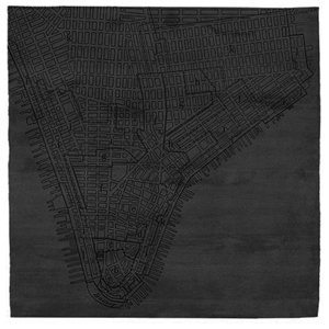 Lower Manhattan No.2 - Almost Black Rug