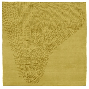 Lower Manhattan No.2 - Bamboo Yellow Rug