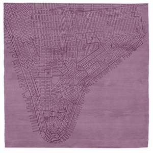 Lower Manhattan No.2 - Dusky Orchid Rug
