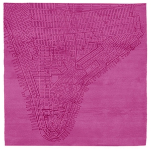 Lower Manhattan No.2 - Pink Rug