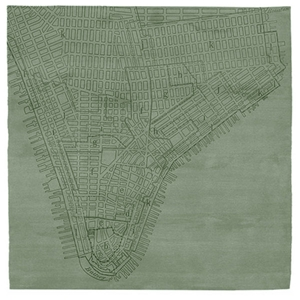 Lower Manhattan No.2 - Seagrass Green Rug