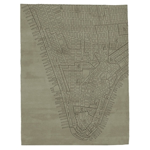 Lower Manhattan - Khaki Rug