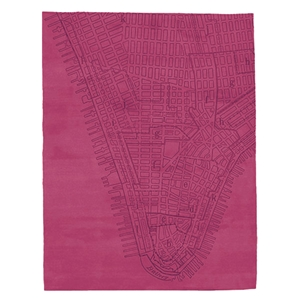 Lower Manhattan - Raspberry Rug