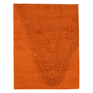 Lower Manhattan - Stash Orange Rug