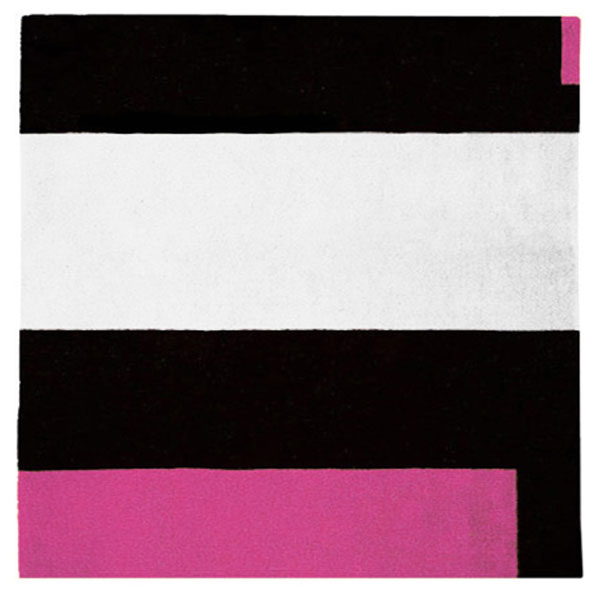Square Soul Icheon - Black, White & Rose Pink Rug