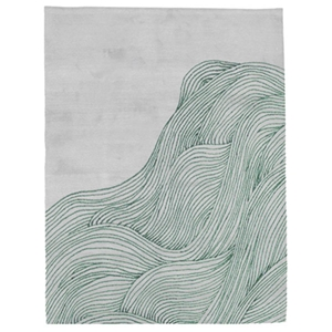 The Ocean - Grey & Menthe Green Rug