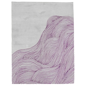 The Ocean - Grey & Purple Rug
