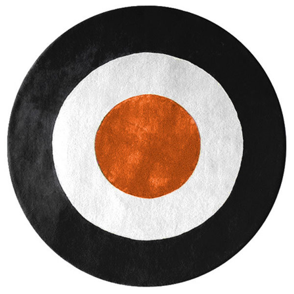 Ystad - Orange, White & Black Rug