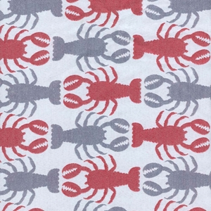 Crustacean Blue Futon Cover