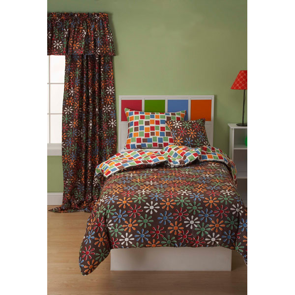 Electric Daisy Girl's Bedding Set