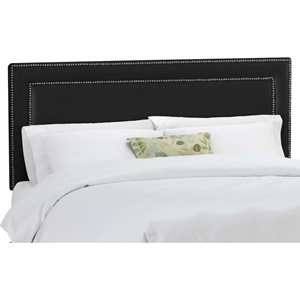 Andromeda Fabric Headboard - Nail Button Border, Black