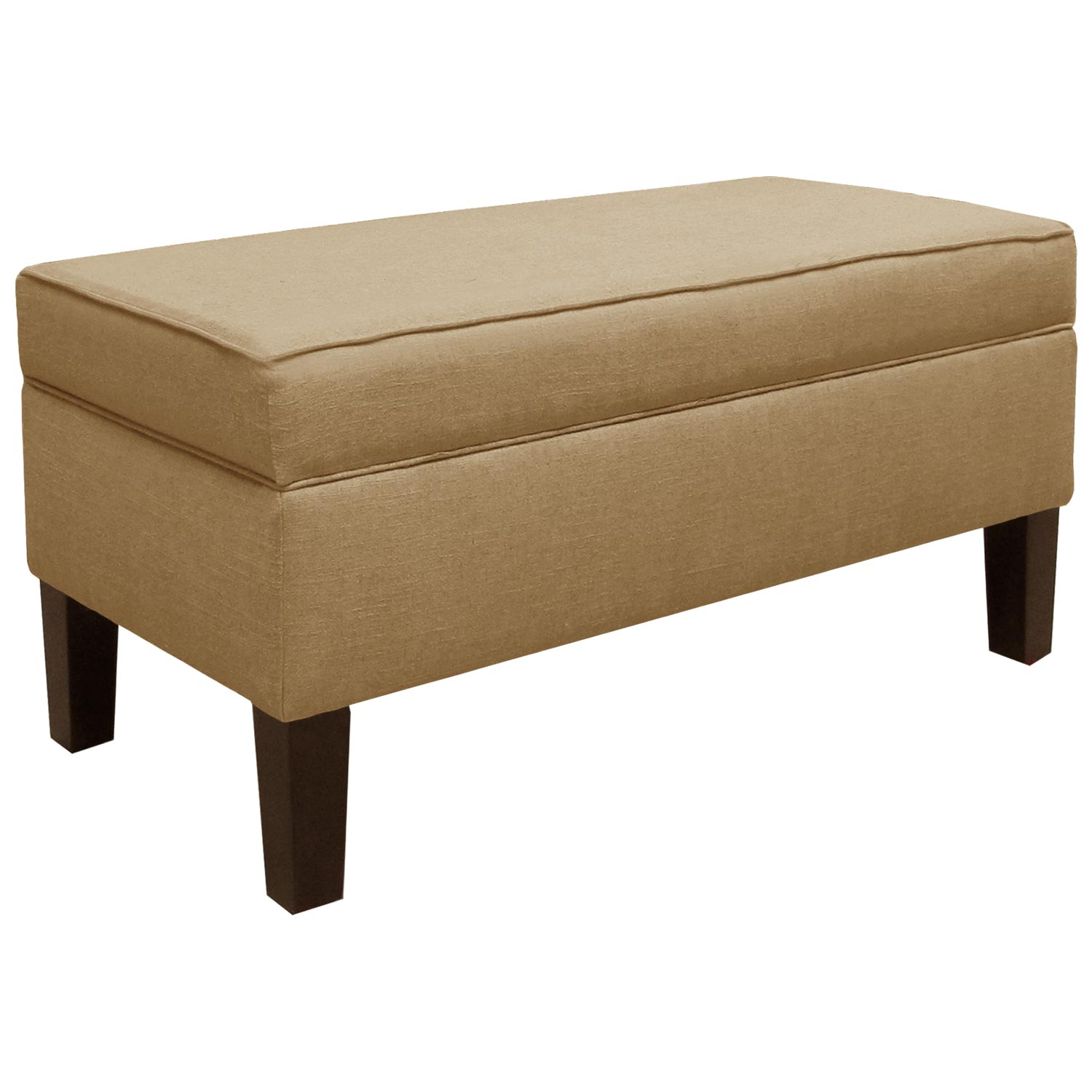 Perseus upholstered storage bench decorative piping sandstone dcg stores Decorative benches
