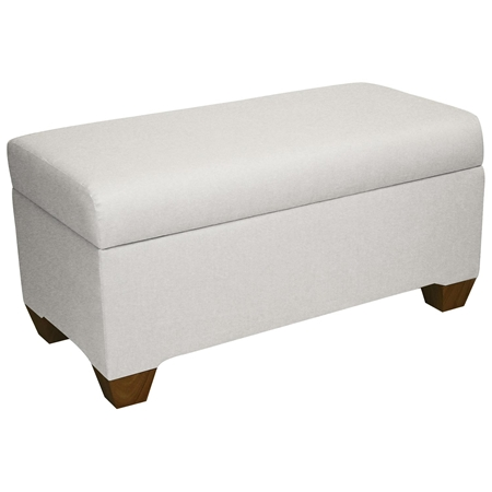 Sagittarius upholstered storage bench twill white dcg stores White upholstered bench