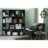 Reveal 16 Cubes Shelving Unit - 2 Fabric Storage Baskets, Chocolate - SS-100023