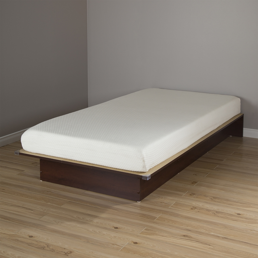 Libra Twin Platform Bed With 6 Somea Mattress Royal Cherry Dcg Stores