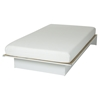 "Libra Twin Platform Bed with 6"" Somea Mattress - Pure White - SS-100028"
