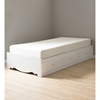 "Crystal Twin Mates Bed with 8"" Somea Mattress Set - Pure White - SS-100029"