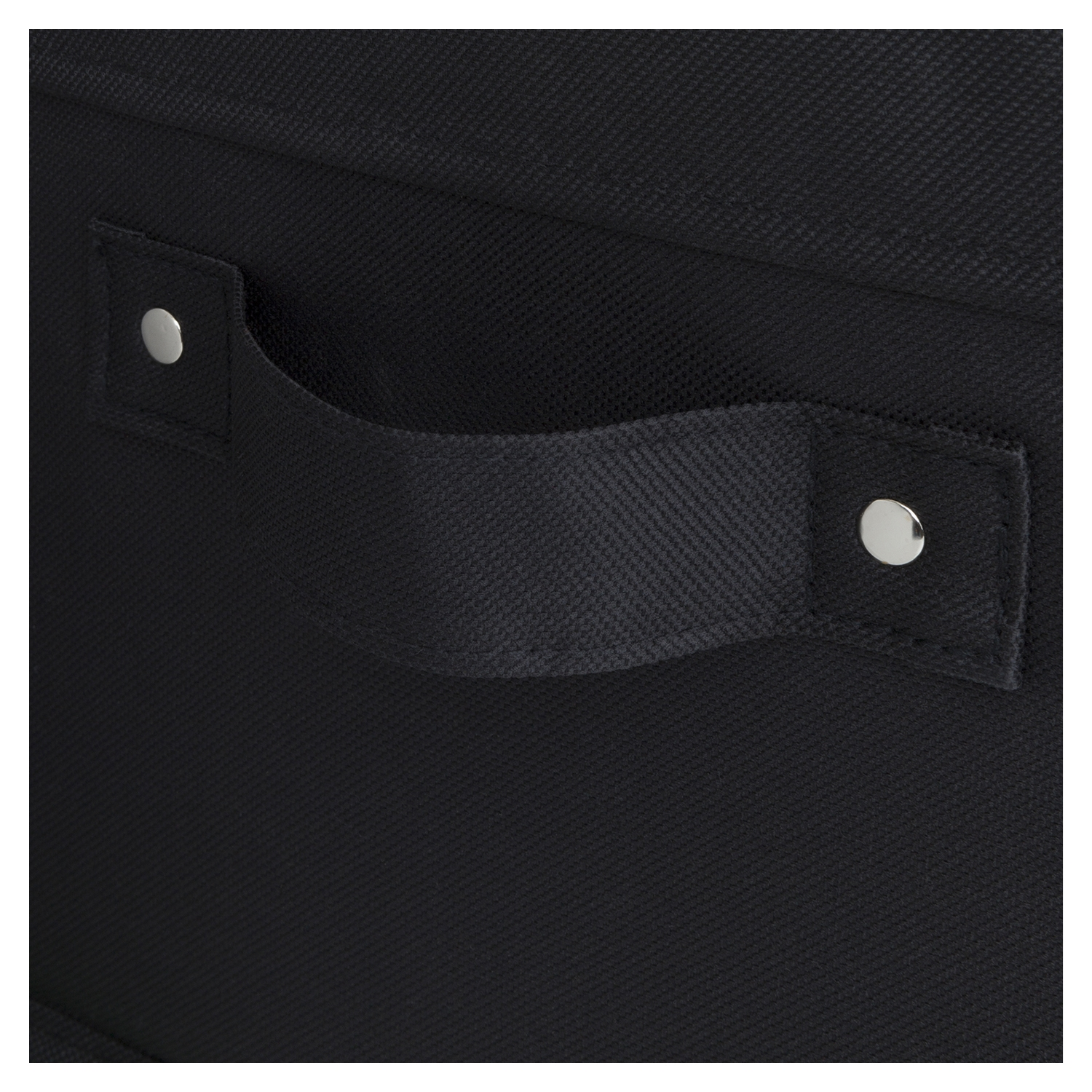 Storit 2 Pack Canvas Basket - Black - SS-100030