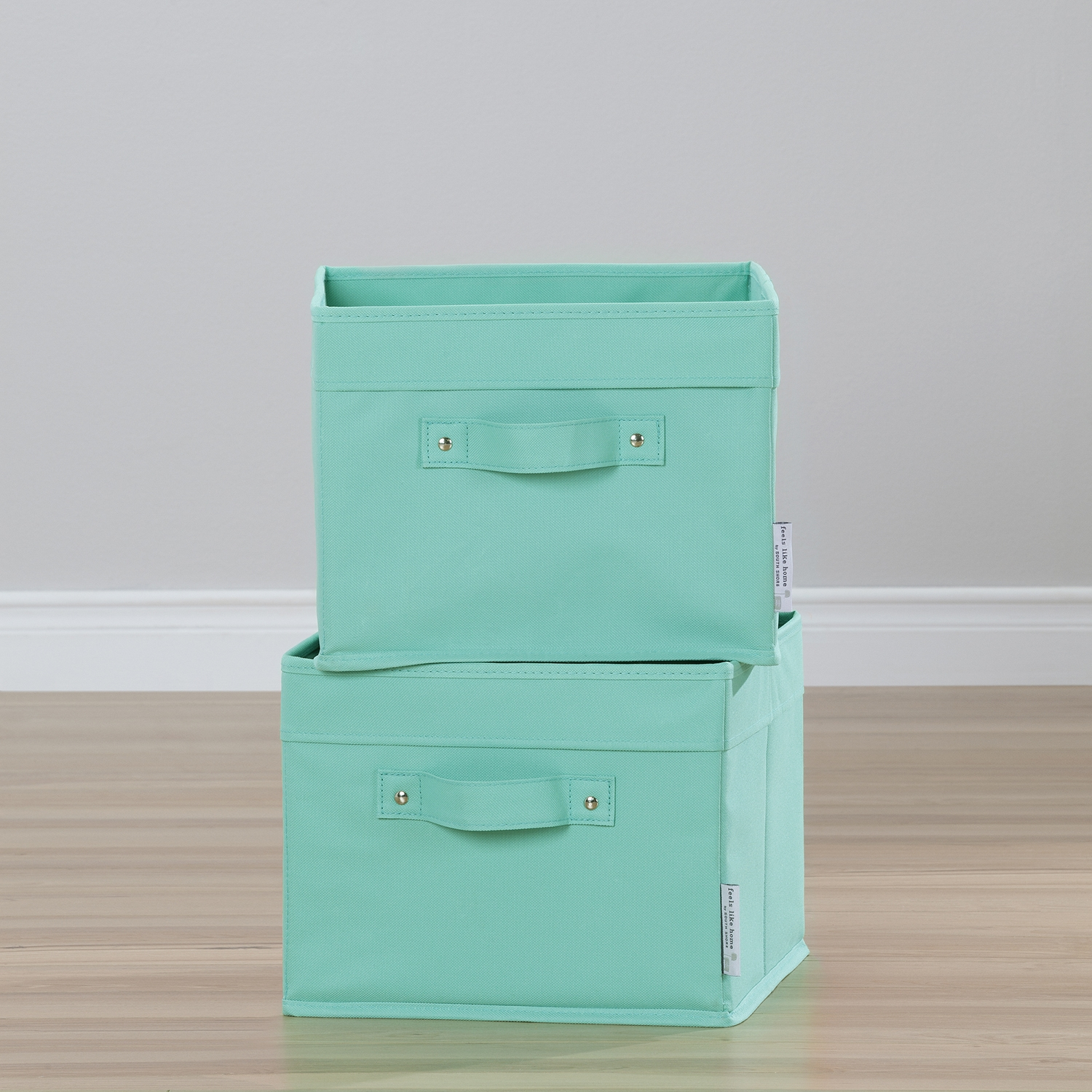 Storit 2 Pack Canvas Basket - Turquoise - SS-100032