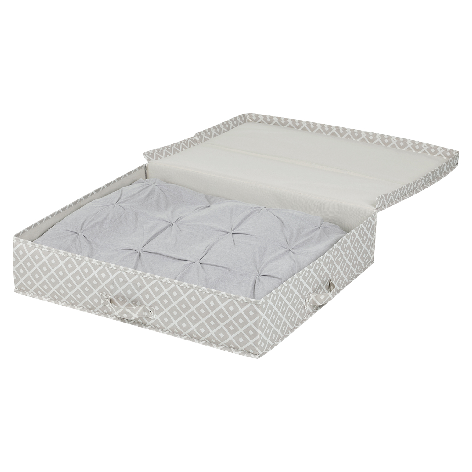 Storit Pattern Canvas Underbed Storage Box - Beige - SS-100041