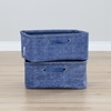 Storit 2 Pack Chambray Pattern Nightstand Basket - Blue - SS-100056