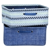 Storit 2 Pack Chambray and Scales Pattern Nightstand Basket - Blue - SS-100057
