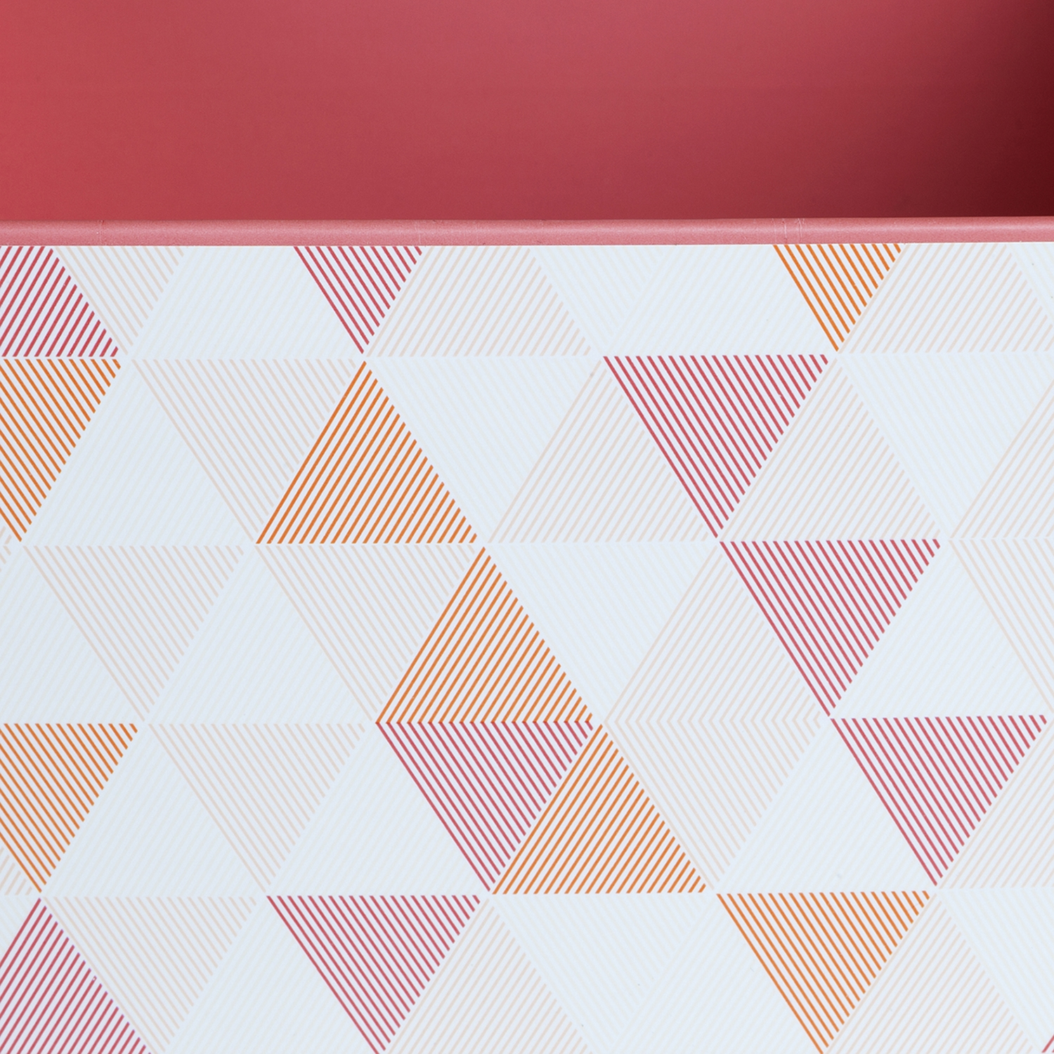 Storit 3 Printed Cardboard Boxes and 1 Pencil Cup - Pattern, White and Pink - SS-100058