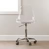 Acrylic office chair -  Clear Acrylic Office Chair Wheels Ss 100075