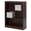 Morgan 3 Shelves Bookcase - 2 Canvas Storage Baskets, Royal Cherry - SS-100115