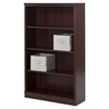 Morgan 4 Shelves Bookcase - 2 Canvas Storage Baskets, Royal Cherry - SS-100116