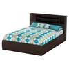 Vito Queen Mates Bed - 2 Drawers, Bookcase Headboard, Chocolate - SS-10035