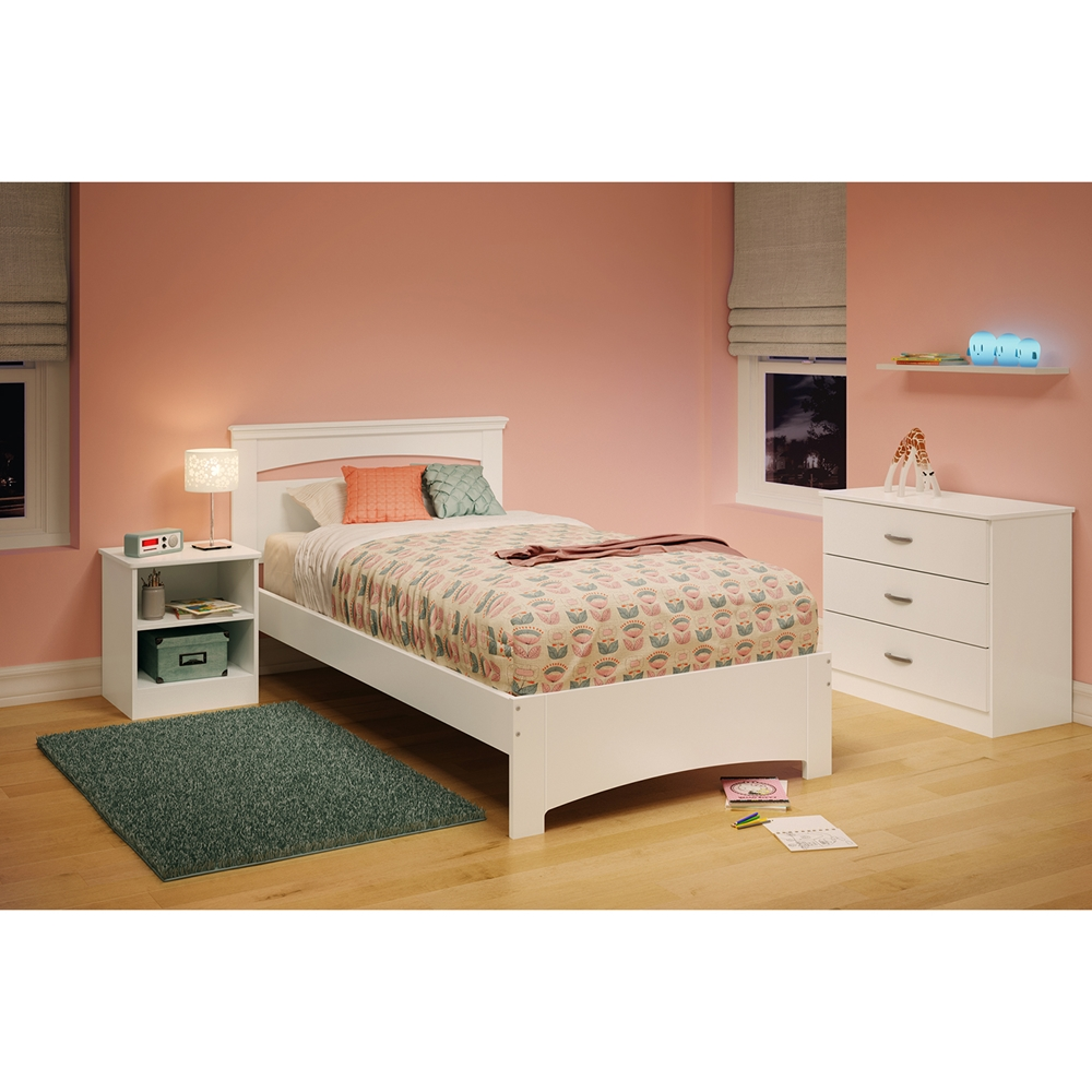 libra twin bedroom set pure white dcg stores. Black Bedroom Furniture Sets. Home Design Ideas
