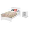 Libra Twin Bedroom Set - Pure White - SS-10053