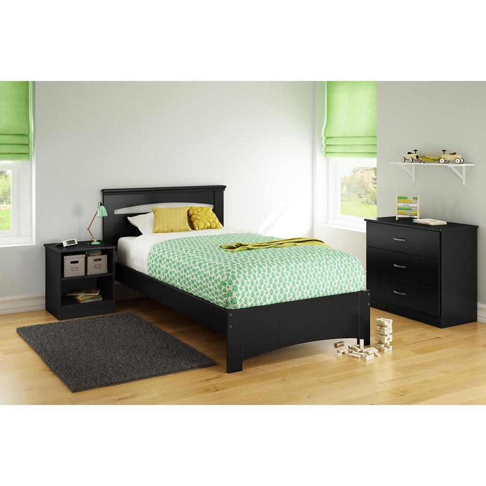 Libra Twin Bedroom Set Pure Black Dcg Stores