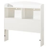Logik Twin Bookcase Headboard - Pure White - SS-10056
