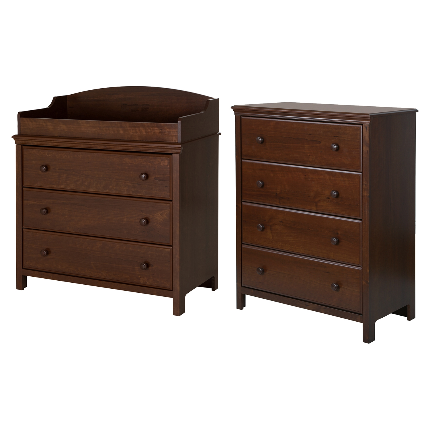 Cotton Candy Changing Table with 4 Drawers Chest - Sumptuous Cherry - SS-10059