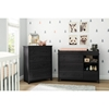 Little Smileys Changing Table and 4 Drawers Chest - Gray Oak - SS-10060