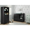 Little Smileys Changing Table and Shelving Unit - Gray Oak - SS-10061