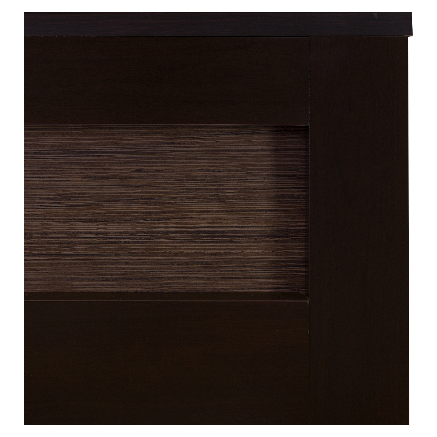 Vito Full/Queen Headboard - Zebrano Insert, Chocolate - SS-10064