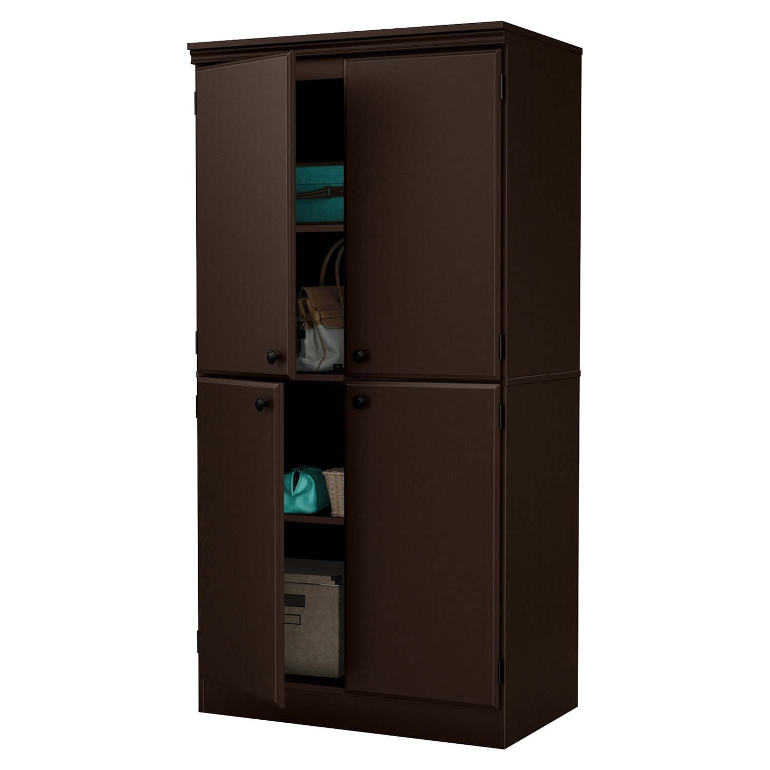 Morgan 4 Doors Storage Cabinet - Chocolate - SS-10073