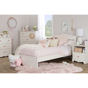 Lily Rose Twin Bedroom Set - White Wash