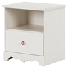 Lily Rose Nightstand - 1 Drawer, White Wash - SS-10076