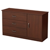 Libra Dresser - Door, 3 Drawers, Royal Cherry - SS-10082