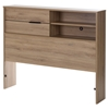 Fynn Twin Headboard - Storage, Rustic Oak - SS-10092